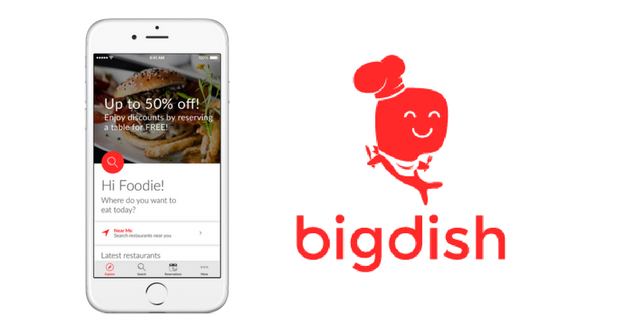 BigDish The Resto Reservations App With Discounts - Table reservation app
